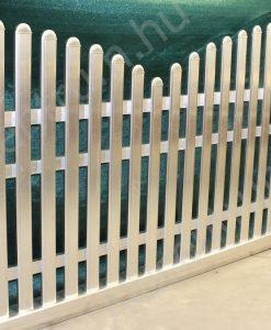 Alumínium kerítésléc profil tartóra szerelve