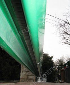 Rejtett műanyag fogasléc alumínium úszókapuhoz